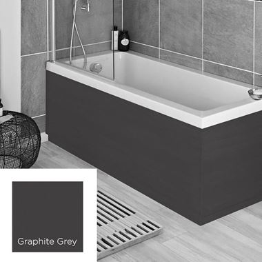 Harbour Graphite Grey 1800mm Vinyl Wrap Bath Panel